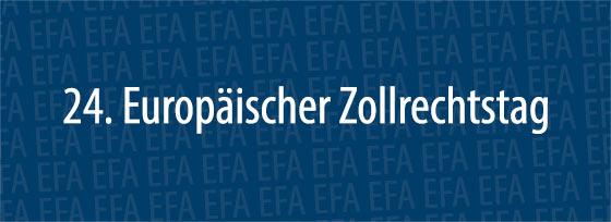 24. Europäischer Zollrechtstag | Erfurt